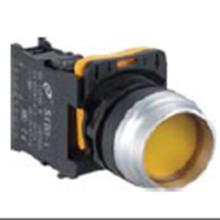 Interruptor pulsador plano de 22 mm de alto con luz