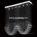 Modern Design Rectangular Rain Drop Factory Wholesale Small Crystal Chandelier Lamp