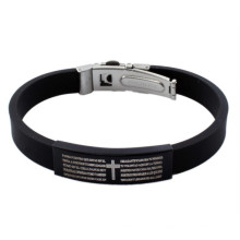 Stainless Steel Germanium Custom Silicone Bracelet