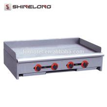 Gewerblicher Counter / Stand Rostfreier Stahl flacher Plattengasgrillbratpfanne