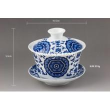 "Ensemble ""Lucky Vine Flower"" Fine Porcelain Gaiwan"