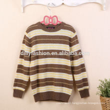 new fashion striped winter knit sweater designs for kids cashmere sweater