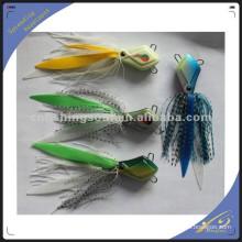 RJL008 jig de isca de pesca de borracha de plástico