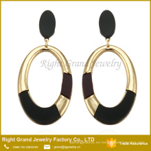 Colorful Latest Artificial Pendientes Round Shaped Long Drop Earrings