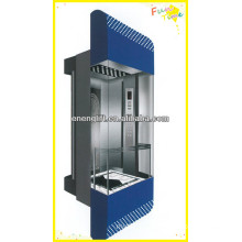 residential and commercial panoramic elevator with machine roomless