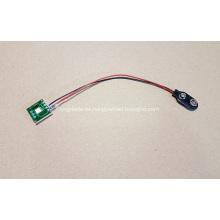 Módulo LED intermitente para pantalla emergente, luz intermitente LED, luz de botón, luz simple con enchufe de soporte de batería