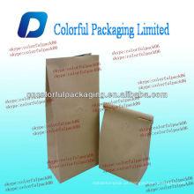 Saco de café do laço da lata do papel de embalagem / saco de café 200g / saco de café 250g do laço da lata