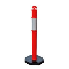 Gut sichtbarer, weicher, elastischer PE-Warnpfosten