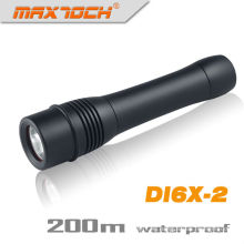 Maxtoch DI6X-2 2 * 26650 batería más larga de tiempo de ejecución impermeable LED luz de buceo