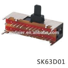 El mejor interruptor de deslizamiento de primavera de precio / interruptor deslizante 50v / interruptor deslizante 24 pin