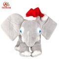 SA8000 Socia Audit wholesale customized plush gray animal elephant stuffed toy with big ears