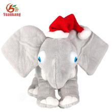 SA8000 Socia Audit al por mayor juguete de felpa de elefante gris felpa personalizado con grandes orejas