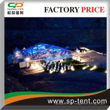 ClearSpan moderne Aluminium-Pavillons Rahmen Zelt zerlegt riesige innere Kraft, hohe Windbelastungen und volle Flammhemmung.