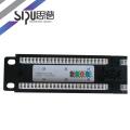 Panel de conexión de alta calidad SIPU 24 puerto 48 puerto cat5e cat6 panel de cable