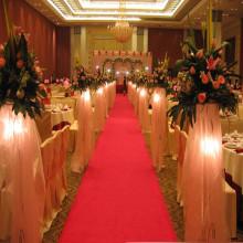 Polyester Plain Hochzeit Läufer Teppich