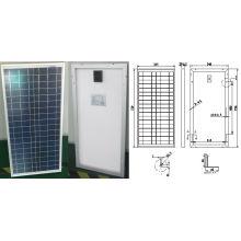 Módulo PV cristalino polivinílico de 18V 30W del panel solar con Ce TUV ISO aprobado