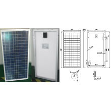 18В 30Вт Поли кристаллические модули PV панели солнечных батарей с CE TUV и ISO утвержденный