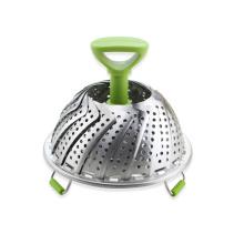 Cesta plegable de acero inoxidable para vaporizador de vegetales