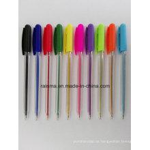 Stock-Kugelschreiber mit Neon-Farbe