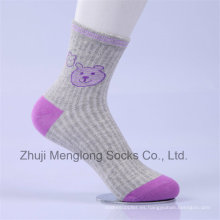 Little Girl Cartoon Designs calcetines de algodón de niña encantadora