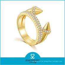 Low MOQ Mode Frauen Zubehör Vergoldet Silber Ringe (R-0637)
