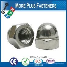 Hecho en Taiwán Acorn Hex Casquillo Tuerca de latón sólido Acorn Tuerca de acero inoxidable Acorn Nuts Aluminio