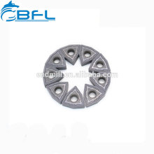Herramienta de corte BFL Insertos de carburo Hoja de fresado redonda para procesamiento de metal