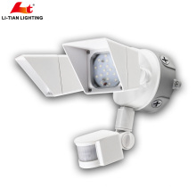 Twin-Head Outdoor led Security light Round LED Flood Light dusk to dawn