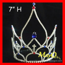 Large pageant Patriotic Crystal pageant crown