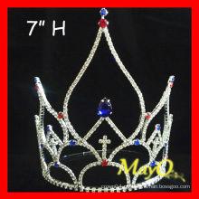 Grande representação gráfica Patriótica Crystal pageant crown