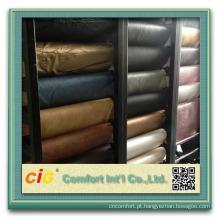Couro sintético PVC para o sofá e cadeiras