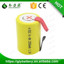 Good Quality Factory Price 2500mAh 4/5SC 1.2V Ni-MH battery