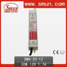 Fuente de alimentación impermeable constante IP67 del conductor de 20W 6-12V LED