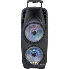 Sistema de megafonía portátil doble de 10 pulgadas con batería recargable y micrófono inalámbrico de mano VHF F73D