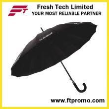 23 * 16k Автоматический открытый прямой зонтик для чистого цвета
