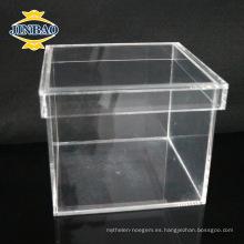 Caja de presentación de acrílico de acrílico de acrílico cristalina para el almacenamiento de alimentos