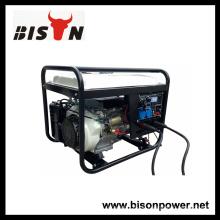 BISON CHINA TaiZhou HONDA 3 Phase 5kw Diesel geschweißte Generator Set mit Schnellanschluss