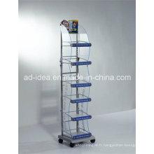 Support d'exposition acrylique de vente chaude de six couches / support multifonctionnel d'exposition