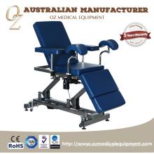 Profesional estadounidense estándar fabricante australiano médico grado médico motorizado 2 sección silla de tratamiento de ginecología