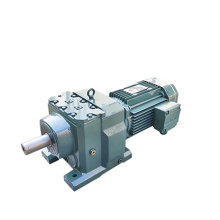 REDSUN R137 Series  helical speed reducers gearbox with 2.2~55KW AC motor