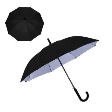 Hot Sale Big Size 8K Auto Open Pongee Golf Straight Umbrella for Business Men with Silver Coated Fabric