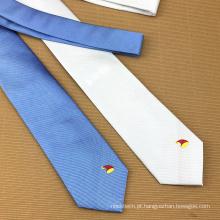 Laços feitos sob encomenda do desenhista dos homens feitos sob encomenda chineses do logotipo do jacquard de seda