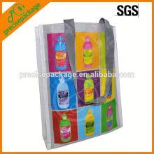 bolsa de asas tejida laminada gruesa de los PP para la promoción