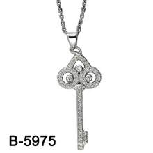 El último diseño 925 plata que fija la galjanoplastia pendiente del rodio. (B - 5975)