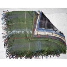 Большой мужской 100% полиэфирный квадратный шарф