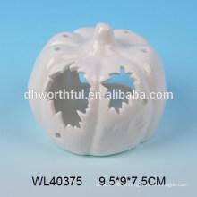 Ofício de porcelana branca para LED com design de abóbora de Halloween