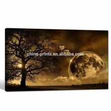 Закат Пейзаж Картинки Giclee Печать / холст Art Dusk Под деревом / зимой Декорации Плакаты