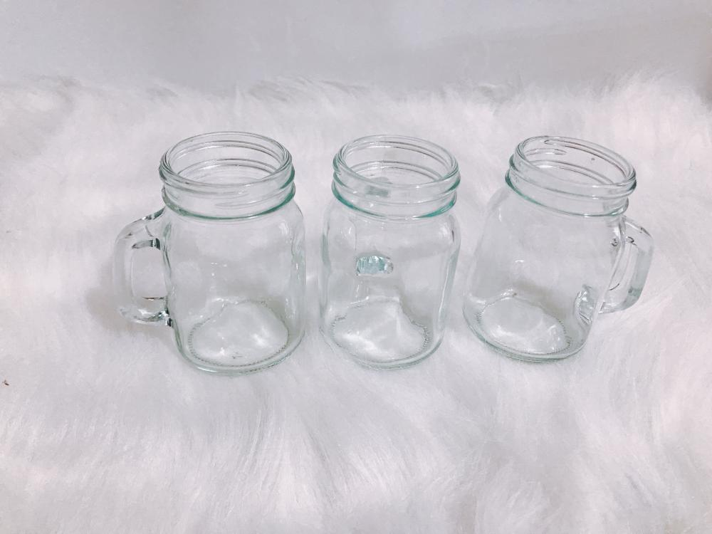 Handle glass storage bottle wholesale