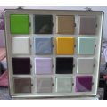 Armoires de cuisine à la peinture brillant en bois brillant avec de nombreuses couleurs à choisir (MOQ 1 set)