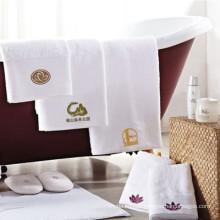 embroidery cotton white spa logo premium towel